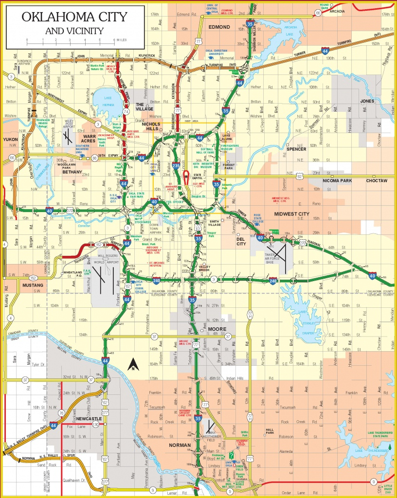Current Oklahoma State Highway Map - Printable Map Of Oklahoma