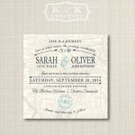 Custom Map Printable Wedding Invitation 5X5Kandkcreative, $20.00 - How To Create A Printable Map For A Wedding Invitation