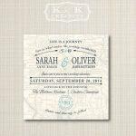 Custom Map Printable Wedding Invitation 5X5Kandkcreative, $20.00   Maps For Wedding Invitations Free Printable