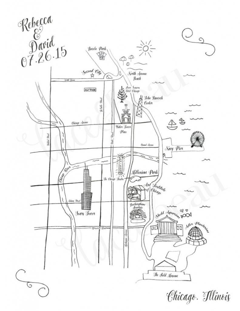 Custom Wedding Map Printable Diy Map Of Wedding Ceremony And | Etsy - Free Printable Wedding Maps