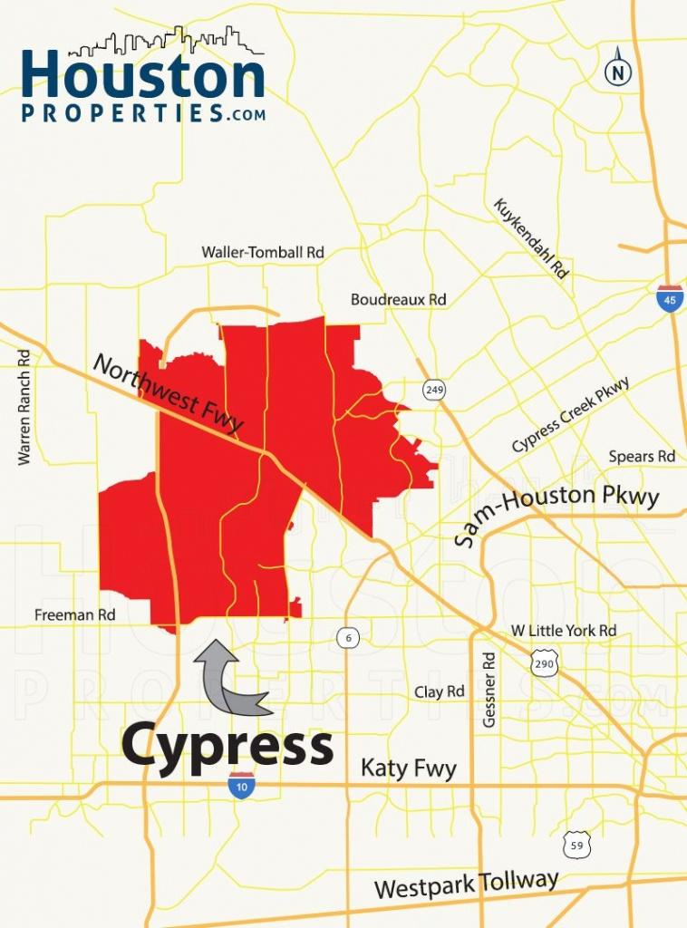 Cypress Tx Map   Great Maps Of Houston   Houston Neighborhoods, Real - Katy Texas Map