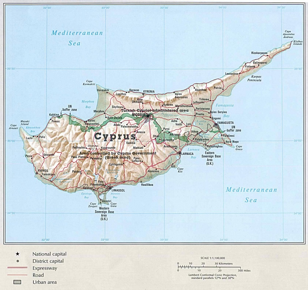 Cyprus Maps | Printable Maps Of Cyprus For Download - Printable Map Of Cyprus