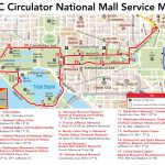 D.c. Circulator National Mall Route   Washington Dc City Map Printable