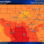 Daily Observed Temperatures   Texas Weather Map Temps