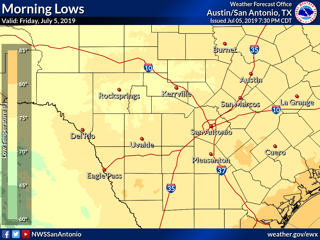 Daily Observed Temperatures - Texas Weather Map Temps