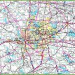 Dallas Area Road Map   Dallas Map Of Texas