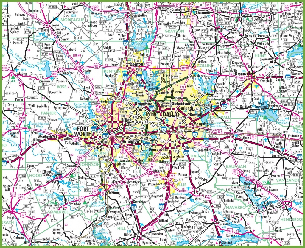 Dallas Area Road Map - Dallas Texas Highway Map