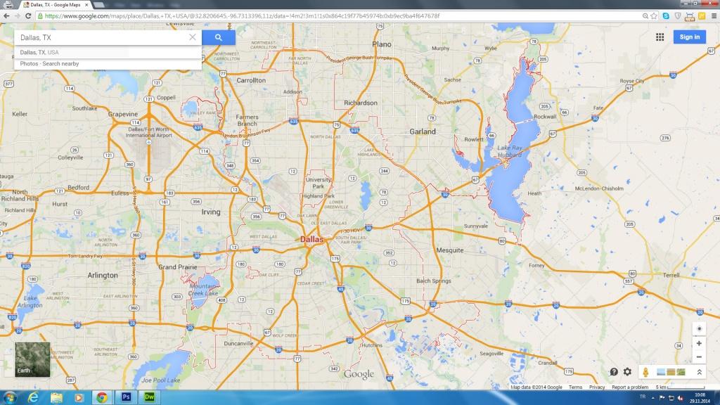 Dallas, Texas Map - Google Maps Fort Worth Texas