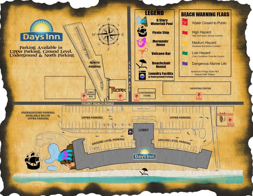Days Inn Map   Days Inn Panama City Beach Florida - Map Of Panama City Beach Florida