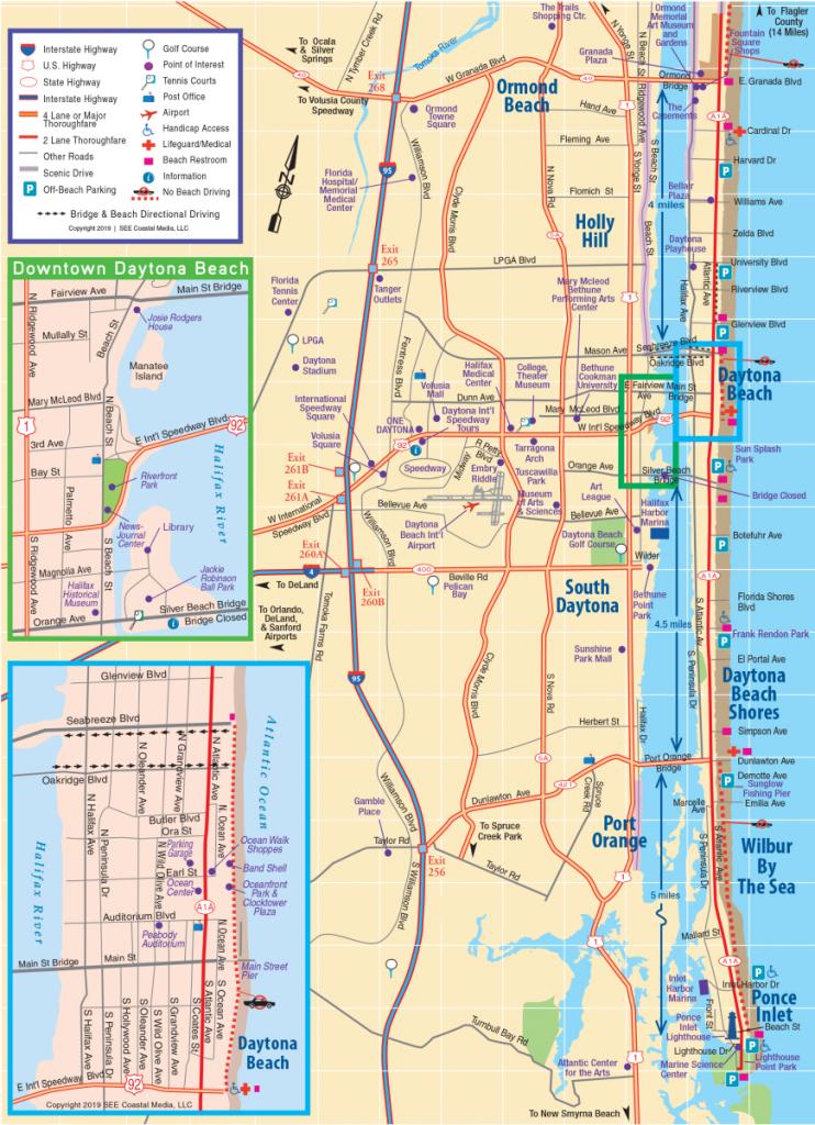 Daytona Beach Area Attractions Map | Things To Do In Daytona - Street Map Of Ormond Beach Florida
