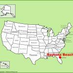 Daytona Beach Location On The U.s. Map   Map Of Daytona Beach Florida