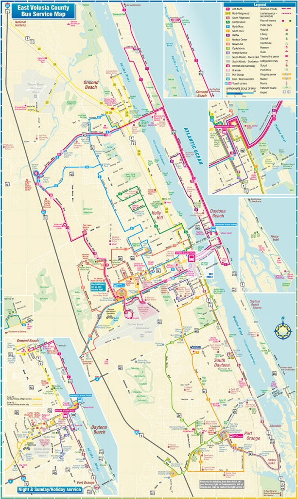Daytona Beach Route Map - Map Of Daytona Beach Florida