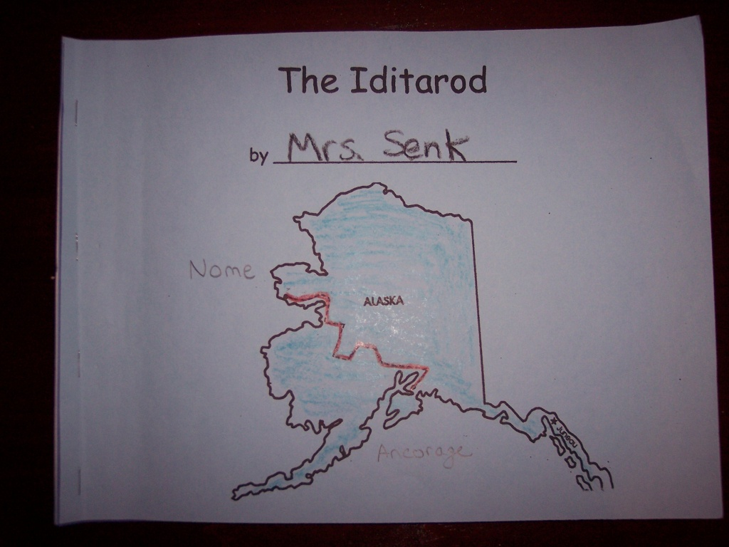 Dbsenk   Kindergarten Nana   Page 21 - Printable Iditarod Trail Map