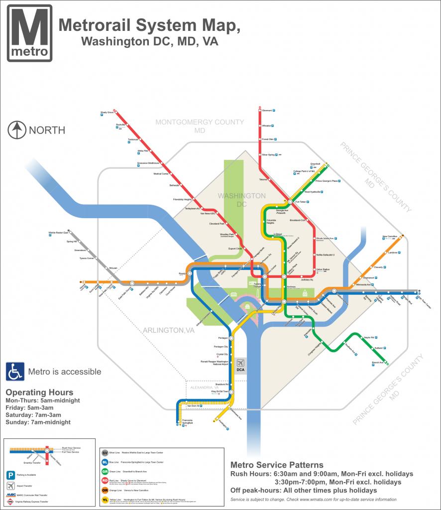 Dc Metro Map - Dc Transit Guide - Printable Metro Map Of Washington Dc