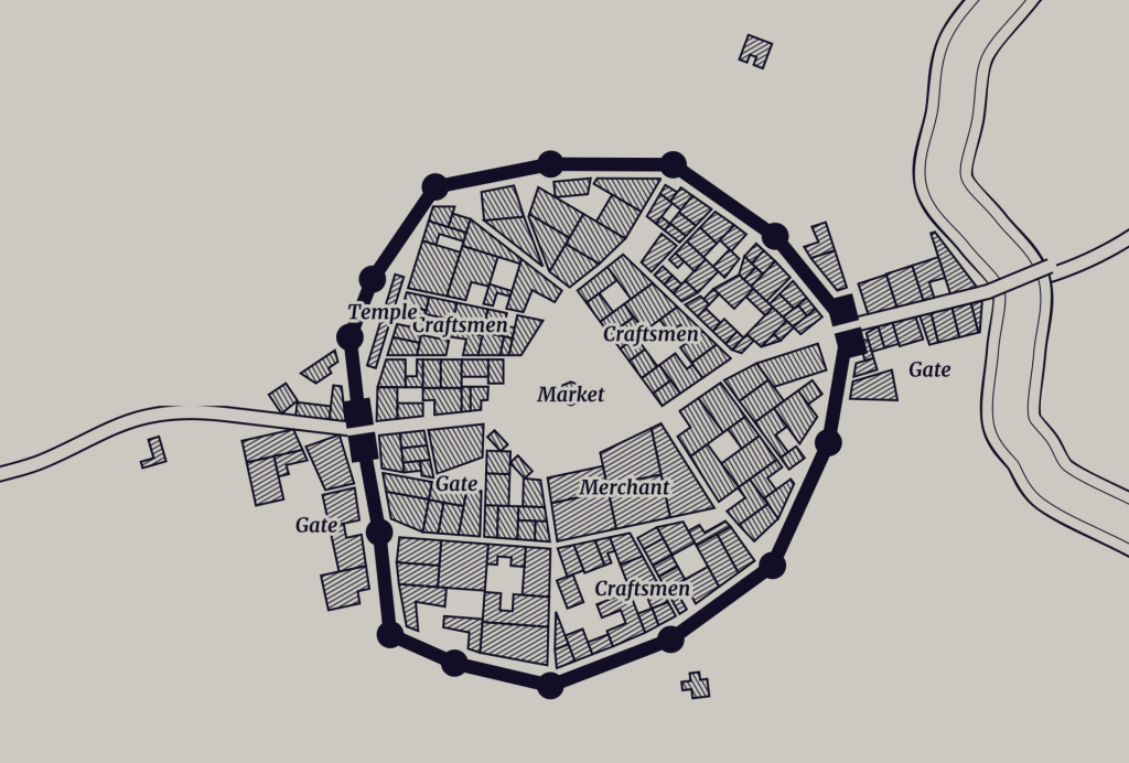 D&d Town Generator - Master The Dungeon - Printable Town Maps