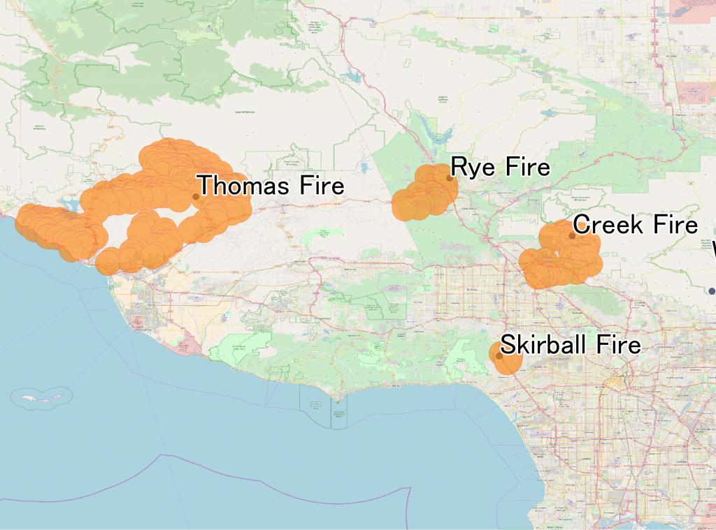 December 2017 Southern California Wildfires - Wikipedia - California Mountain Fire Map