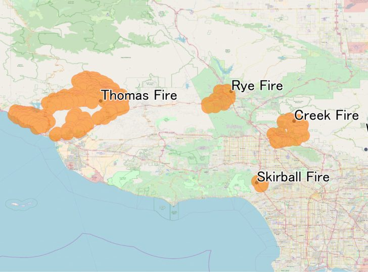 Fires In California 2017 Map