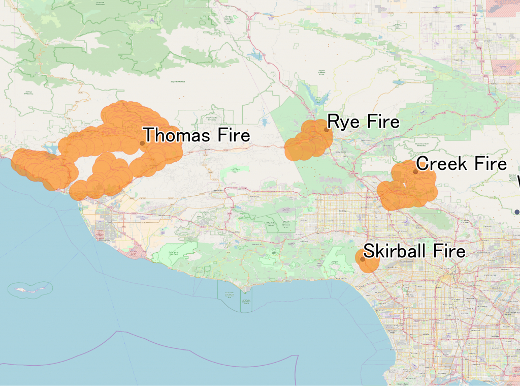 December 2017 Southern California Wildfires - Wikipedia - Fires In California 2017 Map