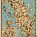 Decorative Whimsical Map Of Florida.   Florida   Florida Pictures - Old Florida Maps Prints