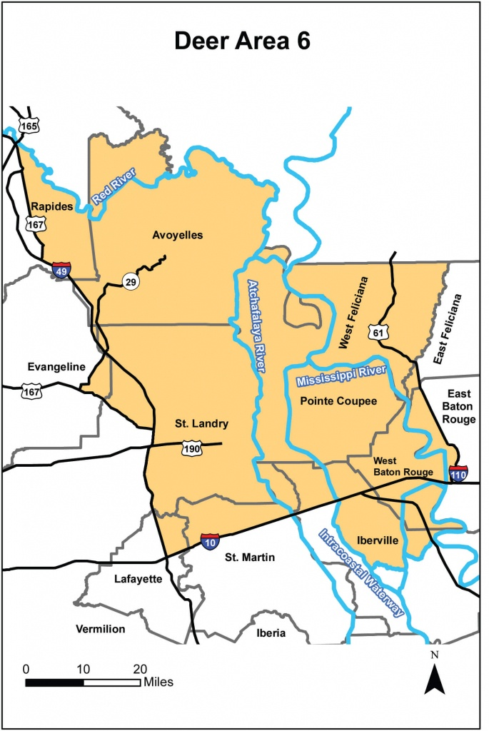 Deer Hunting – Area 6   Louisiana Hunting Seasons & Regulations - Texas Hunting Zones Map