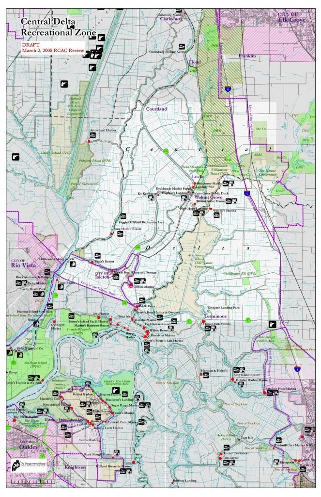 Delta Recreation Maps - California Waterways Map