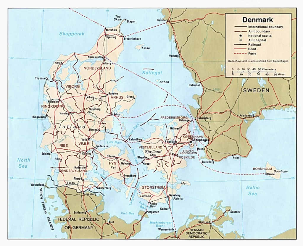 Denmark Maps - Perry-Castañeda Map Collection - Ut Library Online - Printable Map Of Denmark