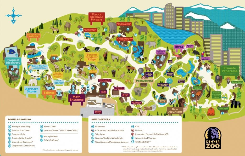 Denver Zoo Map - Printable Detroit Zoo Map