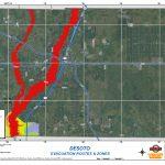 Department | Emergency Management | Desoto County Evacuation Routes   Florida Evacuation Route Map