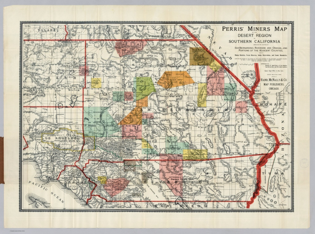 Desert Region Of Southern California - David Rumsey Historical Map - Perris California Map