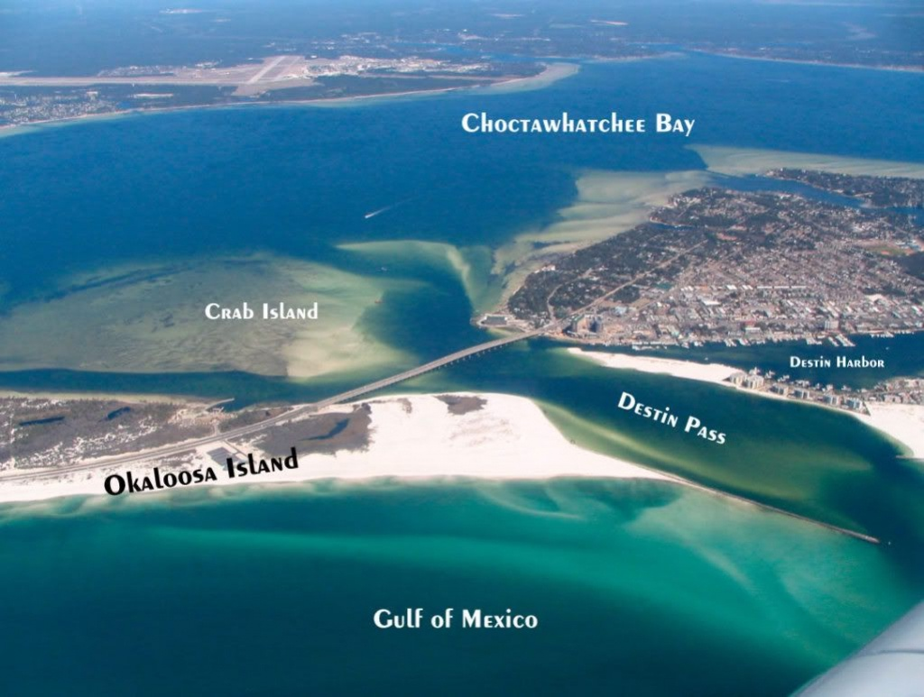 Destin, Fl | Travel | Destin Florida Vacation, Destin Florida - Crab Island In Destin Florida Map