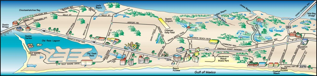Destin Florida Map Of Hotels | Fysiotherapieamstelstreek - Map Of Destin Florida Condos