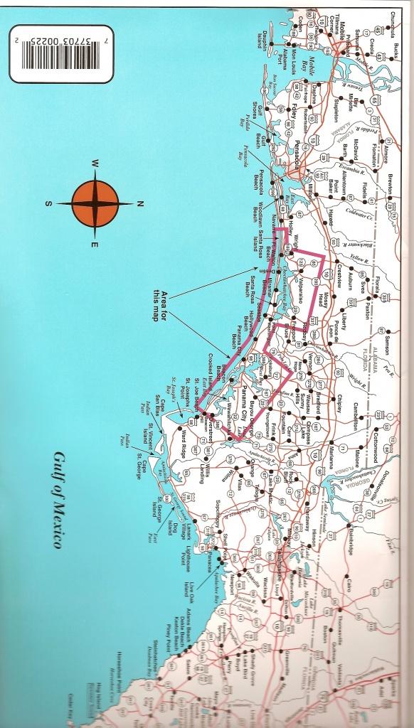 Destin To Panama City Top Spot Fishing Map, Keith Map Service, Inc. - Map Of Destin Florida And Surrounding Cities