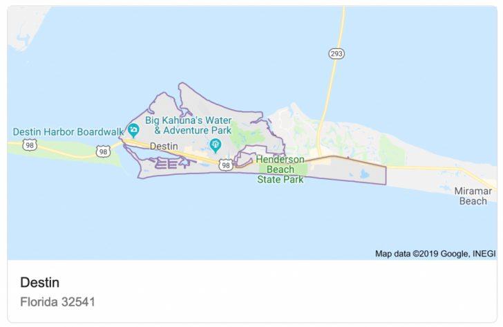 Destin Florida Location On Map