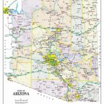 Detailed Arizona Map | Maps In 2019 | Map, Printable Maps, Arizona   Printable Map Of Arizona