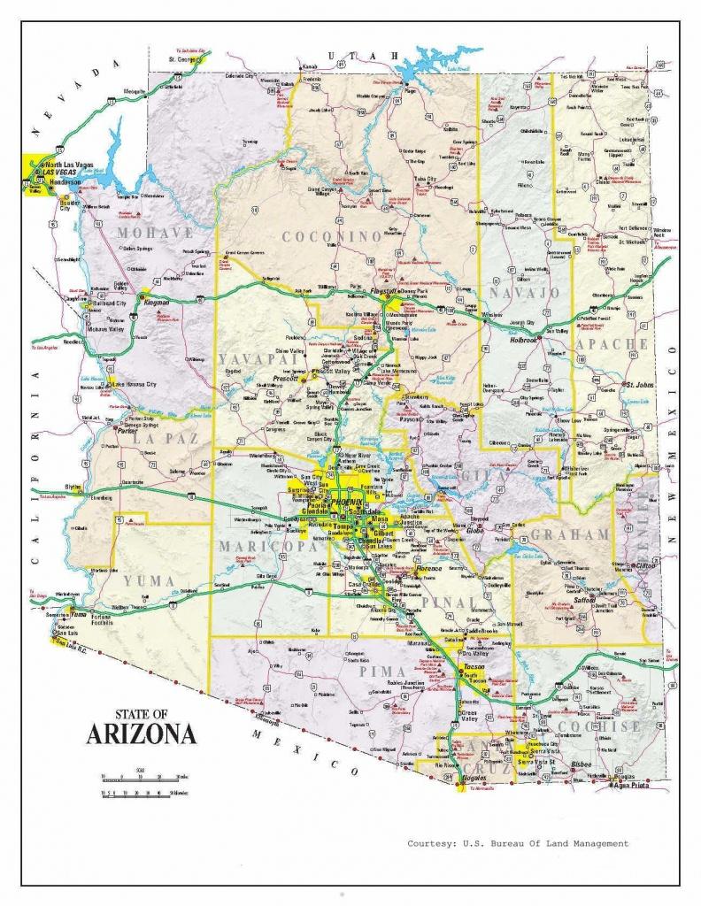 Detailed Arizona Map | Maps In 2019 | Map, Printable Maps, Arizona - Printable Travel Map