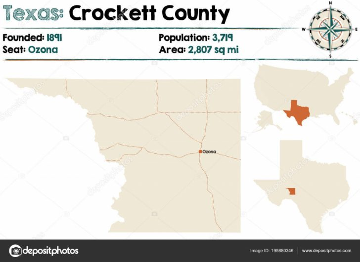 Crockett Texas Map