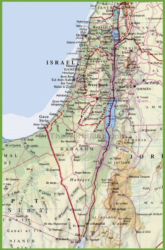 Detailed Map Of Israel With Cities - Free Printable Map Of Israel