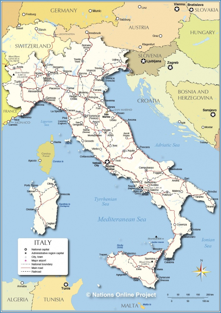 Detailed Map Of Italy | Italy On My Mind In 2019 | Italy Map, Map Of - Printable Map Of Italy To Color