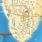 Detailed Map Of The Charleston Dash Trolley Routes.   Charleston Sc   Printable Map Of Charleston Sc Historic District