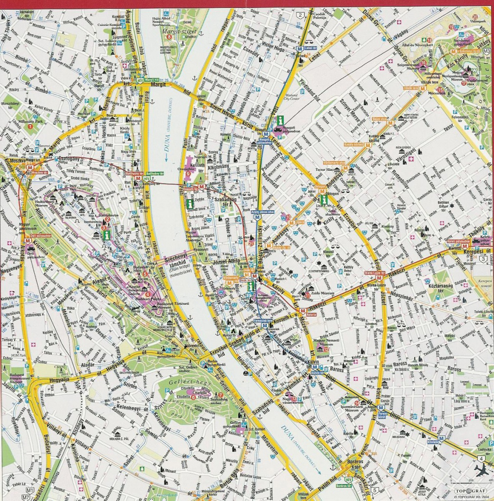 Detailed Street Map Of Budapest City Center. Budapest City Center - Budapest Street Map Printable