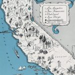 Detailed Tourist Illustrated Map Of California State | California   Illustrated Map Of California