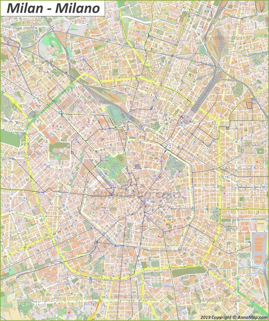 Detailed Tourist Maps Of Milan | Italy | Free Printable Maps Of - Printable Map Of Milan