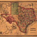 Details About Map Of Texas 1866 Antique State Map Rolled Canvas   Texas Map Canvas