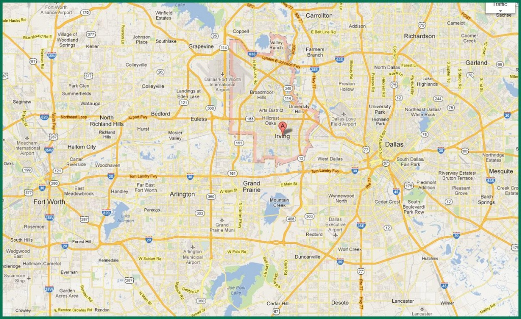 Dfw Area Map - Map Of Dfw Area (Texas - Usa) - Map Of Fort Worth Texas Area