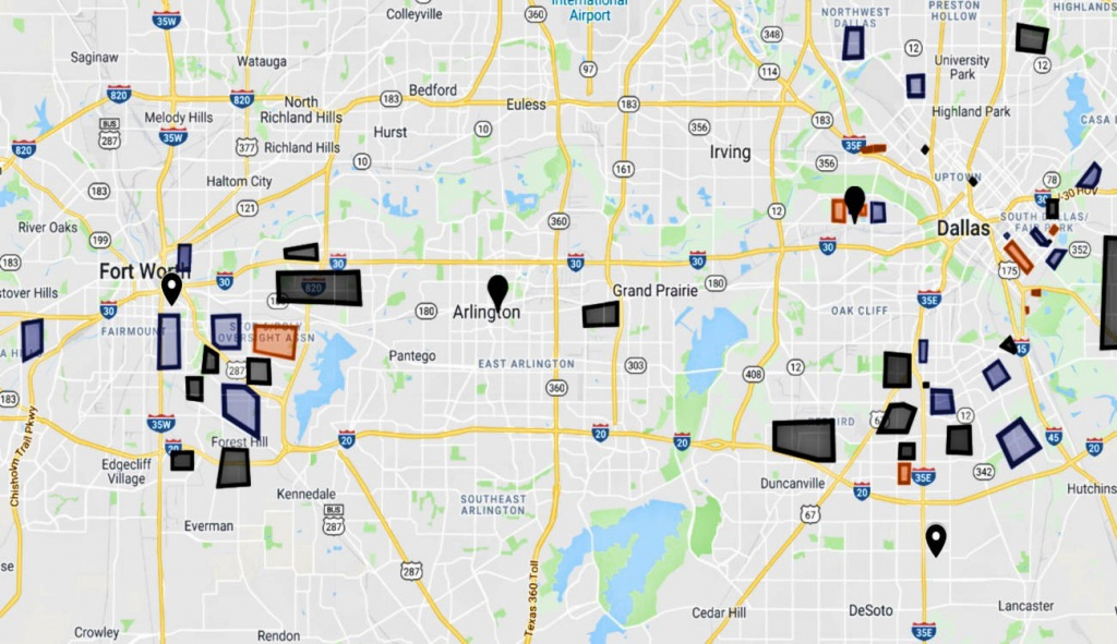 Dfw Map: Dallas Gangs And Hoods / Fort Worth Gangs And Hoods - Google Maps Dallas Texas