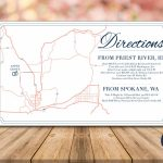 Directions Card, Custom Wedding Map, Details Card, Invitation Map - How To Create A Printable Map For A Wedding Invitation