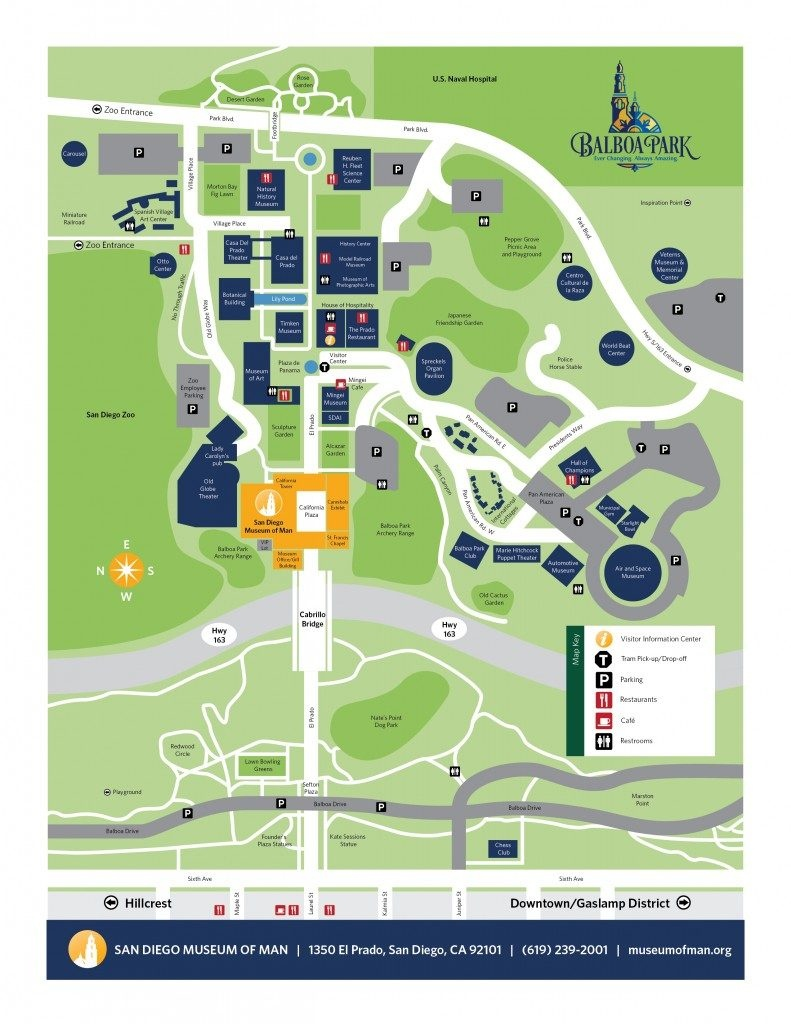 Directions & Parking | San Diego Museum Of Man - Map Of Balboa Park San Diego California
