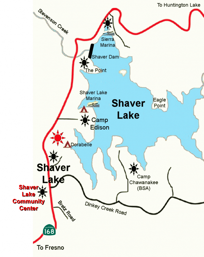Directions – Shaver Lake Community Center - Shaver Lake California Map