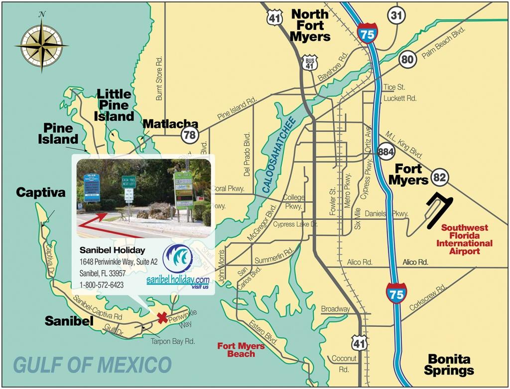 Directions To Sanibel Island | Sanibel Holiday - Sanibel Island Florida Map
