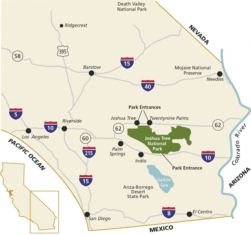 Directions & Transportation - Joshua Tree National Park (U.s. - 29 Palms California Map